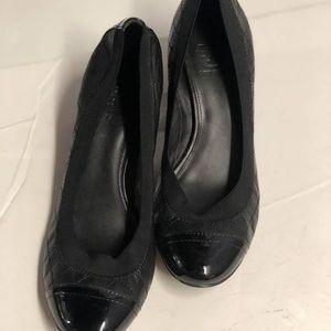 Tory Burch Womens 7 M Leather Toe Cap Heels Slip